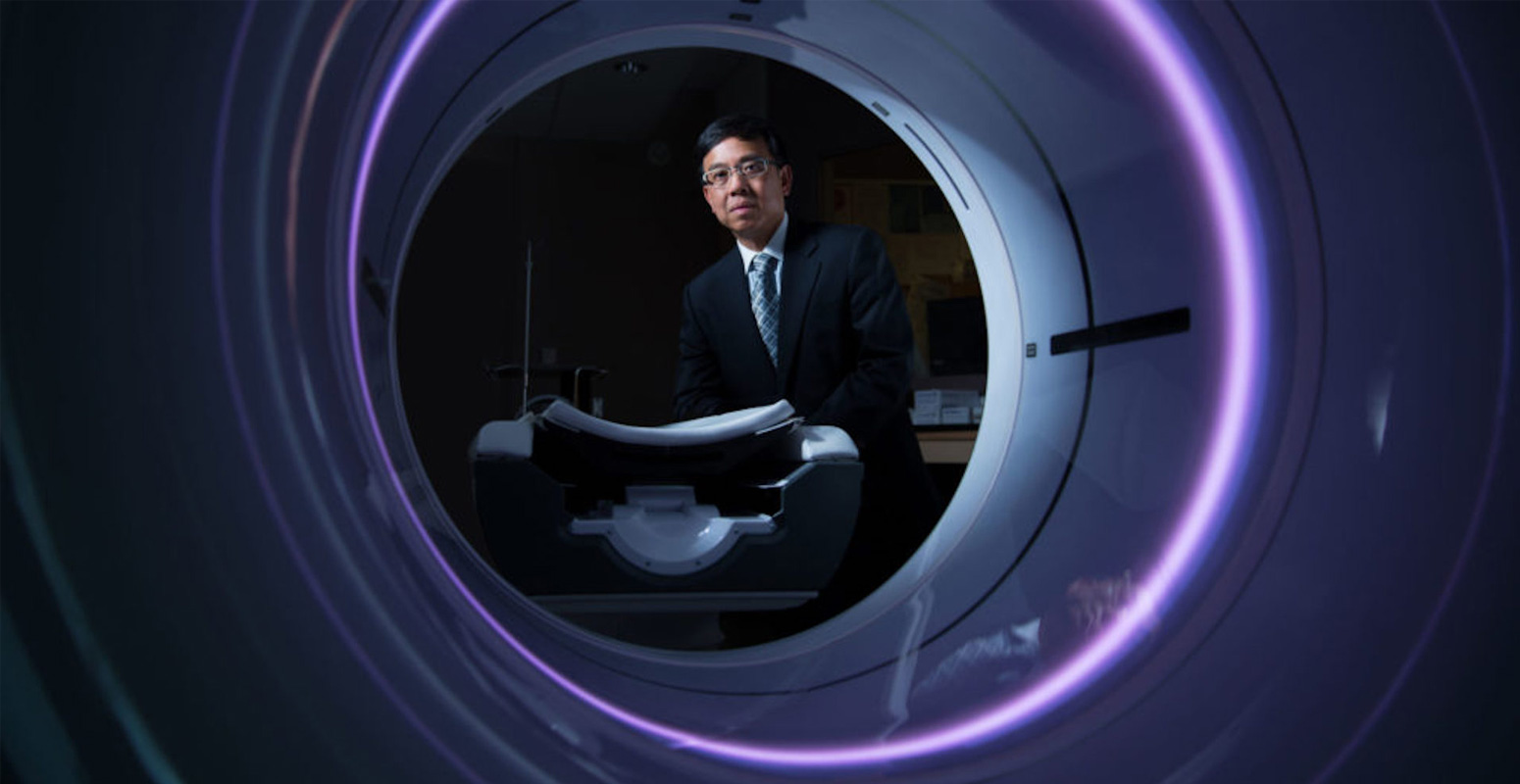 Ting lee through a CT machine