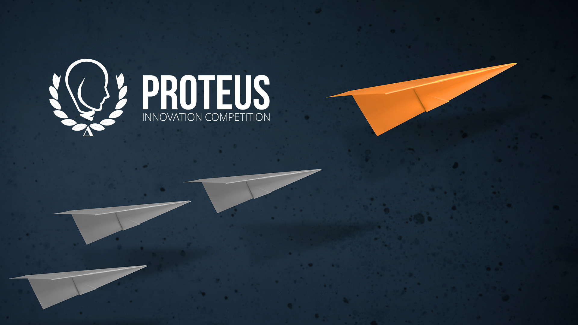 Proteus Banner with paper air planes